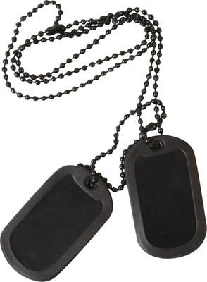 Military dog tag id us style black army sas ebay