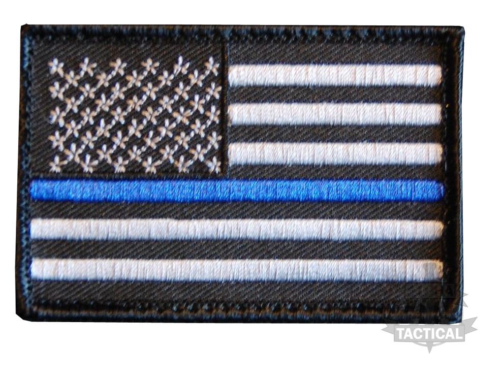 Thin Blue Line Velcro Patch Cop Humour Australia