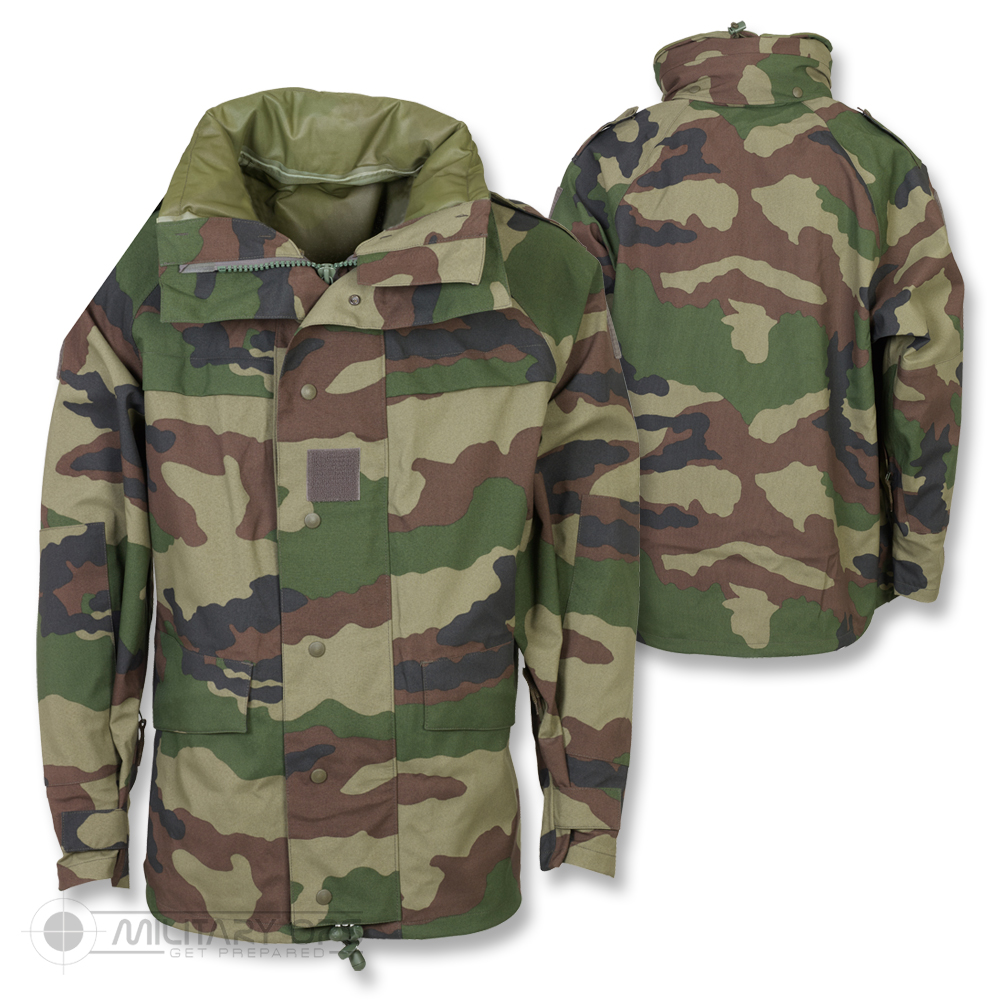 genuine french military army goretex mvp camo waterproof combat jacket cce field ebay. Black Bedroom Furniture Sets. Home Design Ideas