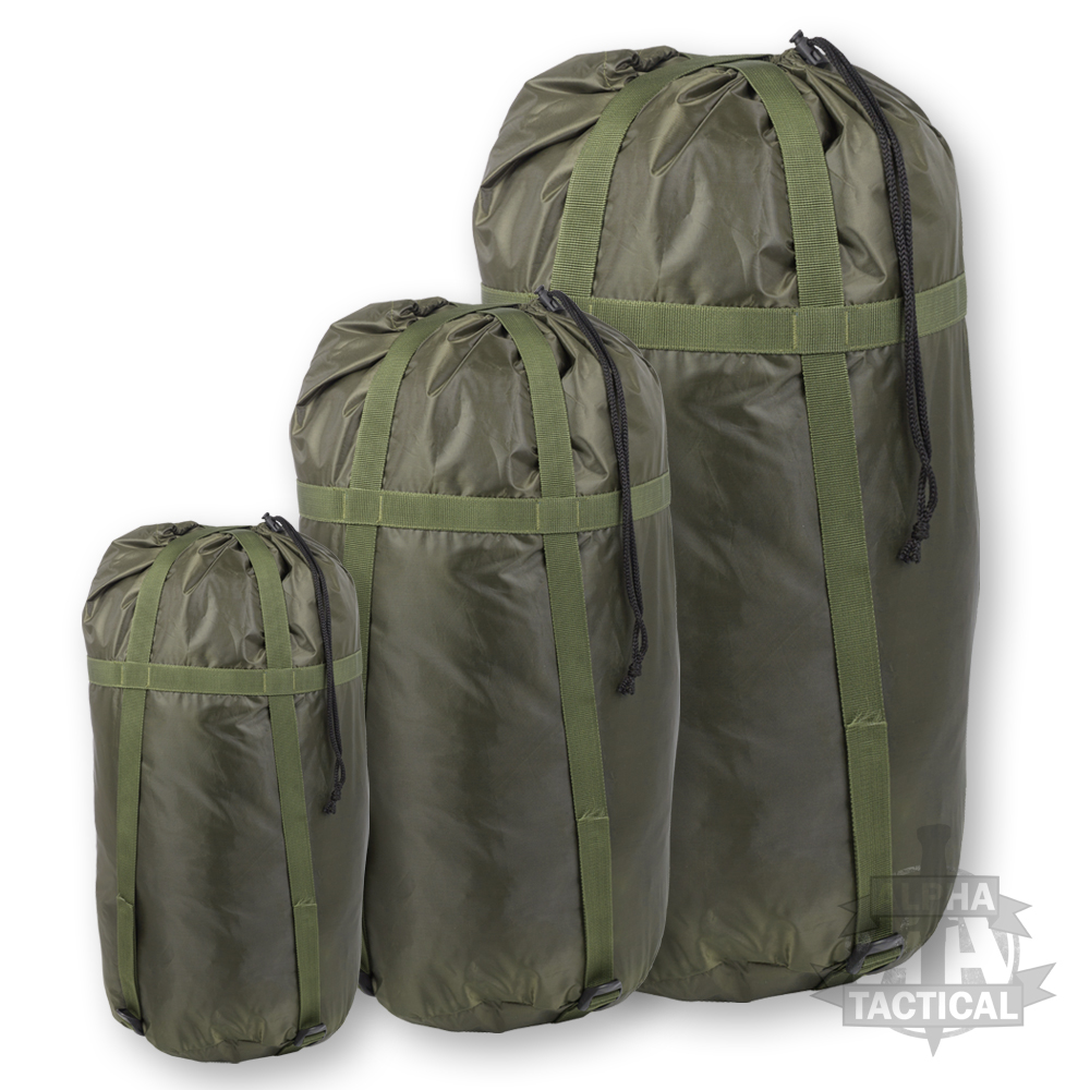 MILITARY STYLE DELUXE SLEEPING BAG COMPRESSION SACK ...