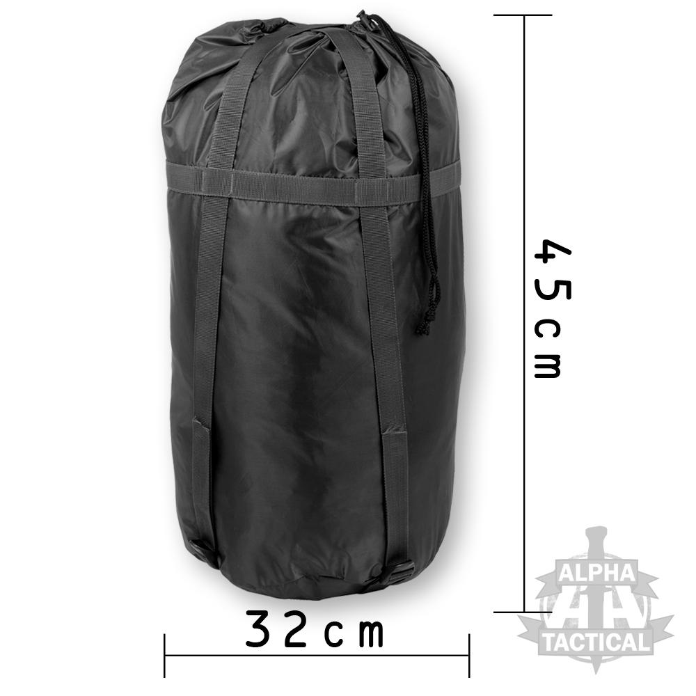 Style militaire deluxe sac de couchage compression sac for Housse de compression sac de couchage